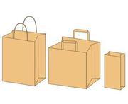 Предлагаем бумажные пакеты фасовочные из крафта бурого