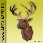 Голова оленя на стену,  голова лося из дерева,  подарочные наборы